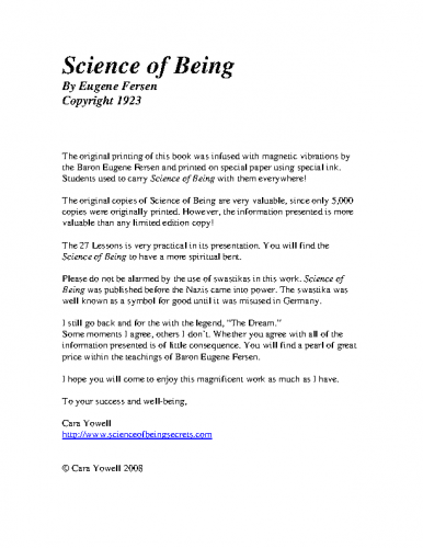 Eugene_Fersen-Science_Of_Being