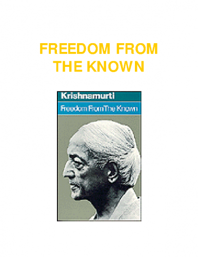 Jiddu-Krishnamurti-Freedom-from-the-known
