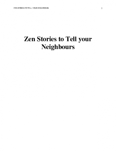 Zen-Stories-to-Tell-Your-Neighbors